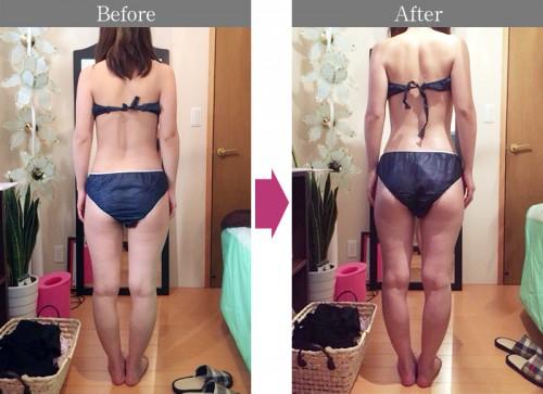 那賀洋子式美筋膜Before After(back)